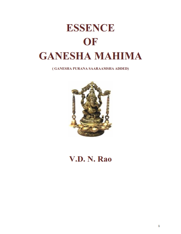 Essence of Ganesha Mahima