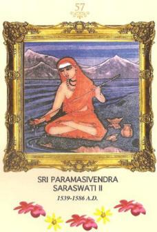 Sri Paramasivendra Saraswati 2 - Acharya of Shri Kanchi Kamakoti Peetam