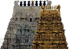 Temple Gopuram - Kamakshi Temple, Kanchipuram