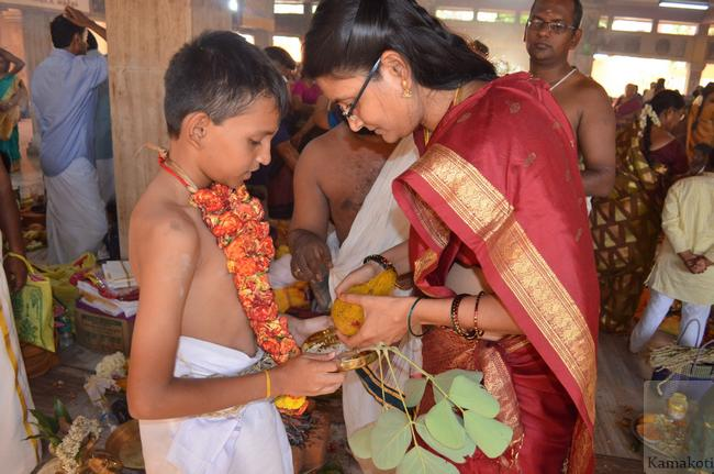 Samashti Upanayanam performed at Shrimatam 9/6/2016,