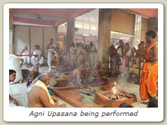 Agni Upasana being performed