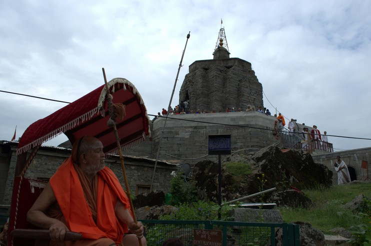 His Holiness at Shankaracharya Hill, Kashmir